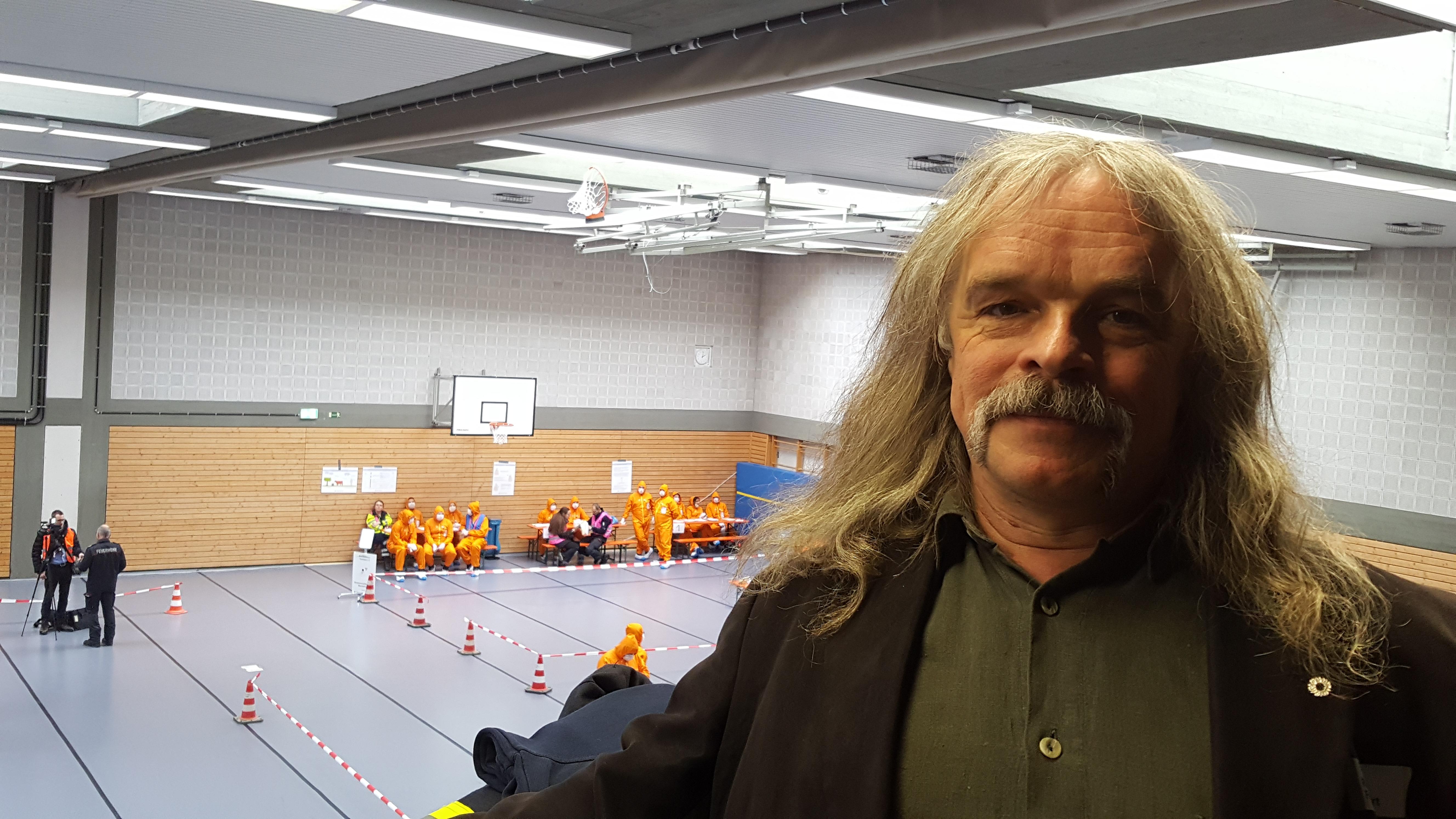 Ralf Frühwirt bei der Pilotübung Notfallstation